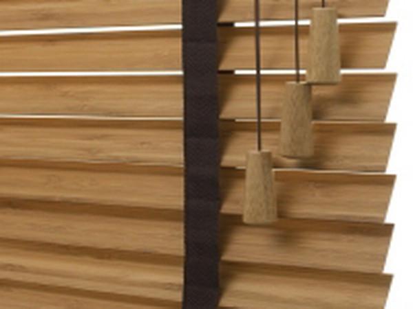 Houten Jaloezieen 35mm.Voordeel 35mm Bamboe Jaloezieen